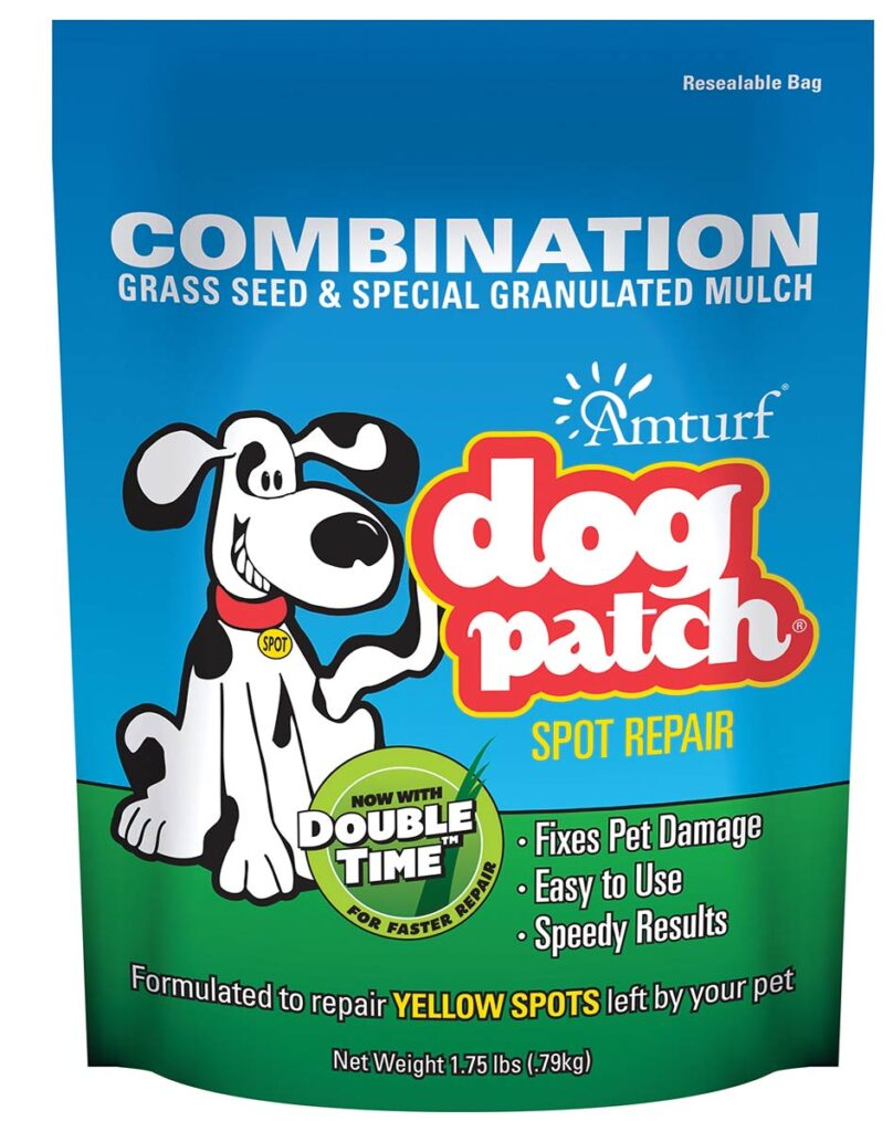 Amturf: Dog Patch® Combo with Ultra Revive™ easy spray-on soil conditioner.